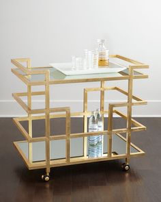 Shop bar and wine accessories at Neiman Marcus. Put on your own happy hour with sleek selections of bar accessories and tools for the perfect night. Home Bar Decor, Bar Cart Decor, Bar Chairs, Bar Stools, Room Chairs, Dining Chairs, Modern Home Bar, Gold Bar Cart, Table Bar