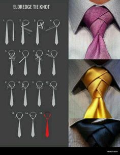"Tie knot trends for men - The ""ELDREDGE"" tie knot. I just LOVE this look!"