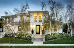 Kourtney Kardashian and Scott Disick's house for sale Calabasas CA | some before and after pictures... love the change in curb appeal.