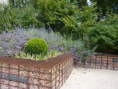 Festival des jardin - Chaumont sur Loire - Gabion brique en retenue de parterre