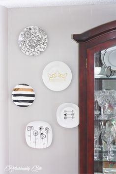 DIY Wall Plates - www.refashionablylate.com