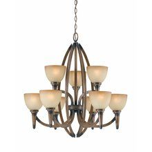 View the Triarch International 31164 Nine Light Chandelier from the Olympian Collection at LightingDirect.com.