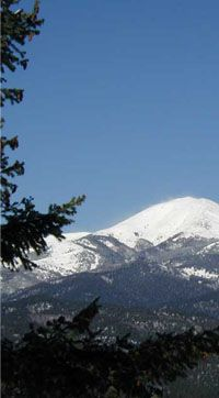 Ruidoso NM - every time I smell ai wood burning fireplace, I think of this mountain town