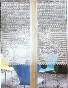 Häkeln & Filethäkeln Gardinen - crochet curtain
