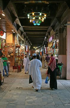 Muttrah Souk - Muscat, Oman there's the most amazing juice shop in the Souk that makes fresh drinks to die for.