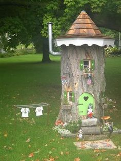 A little bit ago I posted pics of a Gnome house that was built in a tree stump. The other day I took a couple other photos. I thought that if anyone was inspired to do something similar, or at least just wanted to see how it was updated recently would want to see this. I…
