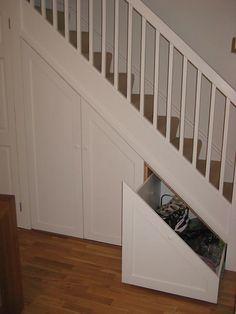 Understair Storage 13 - New Ideas Understairs Toilet, Home, Staircase Design, Stairway Storage, New Homes, House, Stairways, Corner Storage, Hallway Decorating