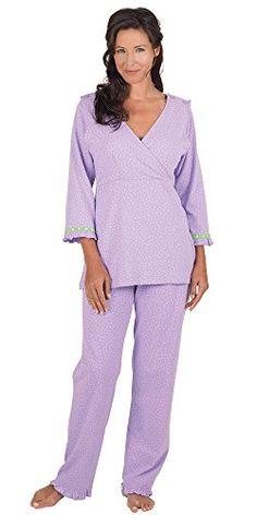 Olian Maternity Aqua Green Circle Nursing Pajama Set ...