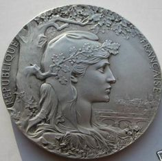 Silvered bronze medal 1900 Univeral Expo