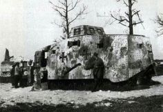 """Tank 529 """"Nixe II"""" (Leutnant Biltz), was lost to the north of Reims, May 31, 1918"""