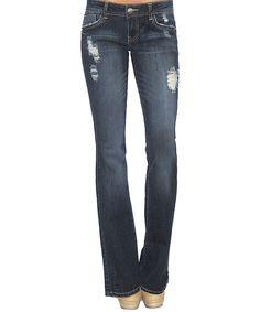 Love this Hart Denim Dark Stone Wash Vulcan Bootcut Jeans by Hart Denim on #zulily! #zulilyfinds