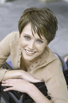 Short Layered Two Color Pixie