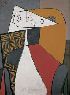 Figure (Seated Woman) / Pablo Picasso / 1930 / oil on wood