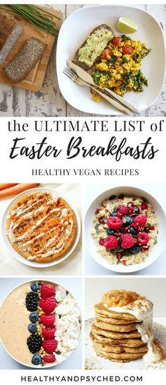 Vegan breakfast recipes for easter.