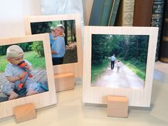 Feine Holzrahmen in Polaroidoptik basteln: http://pxm.li/2izruL #holz #bilderrahmen #rahmen #fotos
