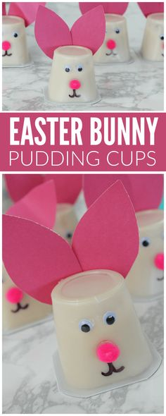 I am loving these adorable Easter Bunny Pudding Cups! They were super easy to make and also they turned out to be super adorable! These are perfect to make for Easter, they were inexpensive and my kids LOVED them.