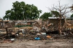 Businesses in Melut, in the Upper Nile state of South Sudan on June 13, 2015, after they were destroyed a short time previously in fighting/AFP