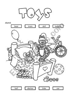 Toys - ESL worksheet by rmmd Vocabulary Worksheets, Esl, Activities, Toys, School, Grade 2, Printable, Activity Toys, Second Grade