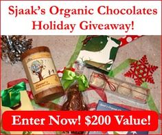 Sweepin N  More: Sjaak's Organic Chocolates Holiday Giveaway