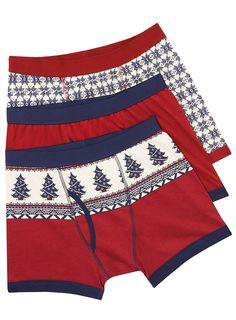 Christmas Underwear 3 Pack - yesssss i love it! Men's Underwear, Mens Christmas Underwear, Christmas Trends, Christmas Time, Xmas, Holiday, Mens Fashion Blog, Men's Fashion, Presents For Boyfriend