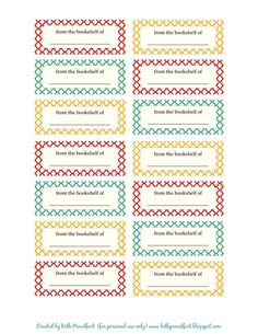 Free Printable Book Labels ~ Be Different...Act Normal