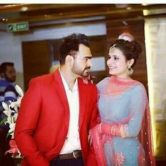 Punjabi Wedding Couple, Punjabi Couple, Wedding Couples, Cute Couples, Punjabi Models, Crazy Fans, Sweet Couple, Film Industry, Couple Shoot