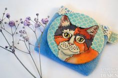 Cat Fabric Pocket Mirror, Cosmetic Mirror, Makeup Mirror, Gifts for Women, Fabric Covered Mirror, Mothers Day Gift by ceridwenDESIGN on Etsy https://www.etsy.com/listing/202429268/cat-fabric-pocket-mirror-cosmetic-mirror