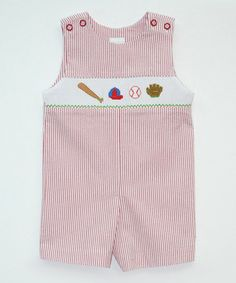 Love this Red Baseball John Johns - Infant & Toddler by Smocked Giraffe on #zulily! #zulilyfinds