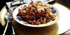 Baked Gnocchi with Aubergine Sauce Baked Gnocchi, Yummy Food, Tasty, Kung Pao Chicken, Pasta Recipes, Treats, Autumn, Vegan, Baking