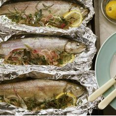 Cooking With Tin Foil Camping Recipes. Fish in tin foil w/ lemon, buttr, garlic, slt n ppa. open fire for 5-10 mins and voila yummy Healthy camping!