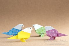 Manos a la obra! Les muestro cómo hacer estos preciosos pajaritos de origami que pueden usar para decorar o combinar con otras creaciones!