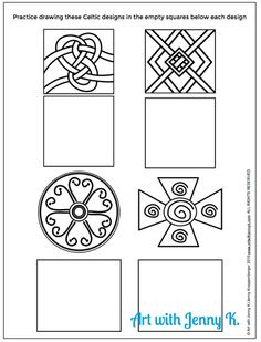Free celtic knot drawing practice for St. Patrick's Day. An engaging student art activity. Easy for classroom teachers, art teachers, homeschool parents and more!