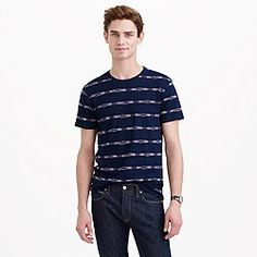 Wallace & Barnes indigo striped tee