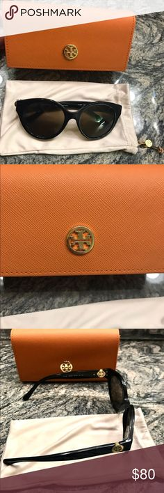 Tory burch sunglasses Tory burch sunglasses only worn a few times. In perfect condition. No scratches scuffs etc. comes with soft bag and case. Tory Burch Accessories Sunglasses