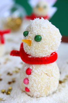 Bonshommes de neige chocolat blanc et noix de coco-copie-1
