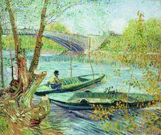 Vincent van Gogh - Fishing in the Spring. Pont de Clichy, 1887