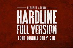 Hardline Font Bundle by Graptail on Creative Market