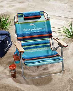 Tommy Bahama - Multi-Stripe Deluxe Backpack Beach Chair