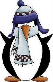 Cute penguin all bundled up