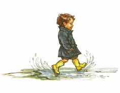 Illustration from The Big Alfie Out of Doors Storybook © Shirley Hughes, 1992