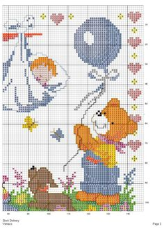 Cross Stitch Beginner, Small Cross Stitch, Cross Stitch Animals, Baby Cross Stitch Patterns, Baby Patterns, Cross Stitch Bookmarks, Cross Stitch Embroidery, Baby Bibs, Baby Knitting
