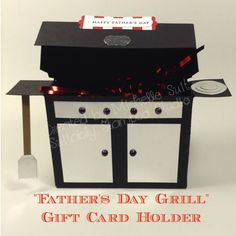 Father's Day Grill Gift Card Holder