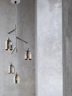 Indirect light blown glass chandelier LABYRINTH by Lasvit | #design Arik Levy @lasvit