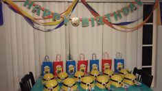 Despicable me 2nd Birthday set up