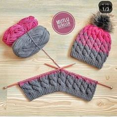 Baby Knitting Patterns, Beret, Hair Band, Knitted Hats, Diy And Crafts, Winter Hats, Instagram, Afrikaans, Christmas