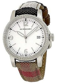 Women's Wrist Watches - Burberry Silver Dial Stainless Steel Textile Quartz Ladies Watch BU7824 -- You can find more details by visiting the image link.