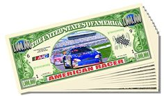 American Racer Million Dollar Bill - 10 Count with Bonus Clear Protector and Christopher Columbus Bill * See this great product.