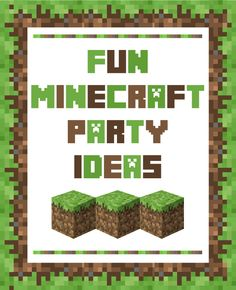 Fun Minecraft Party Ideas!