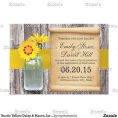 Rustic Yellow Daisy & Mason Jar Wedding