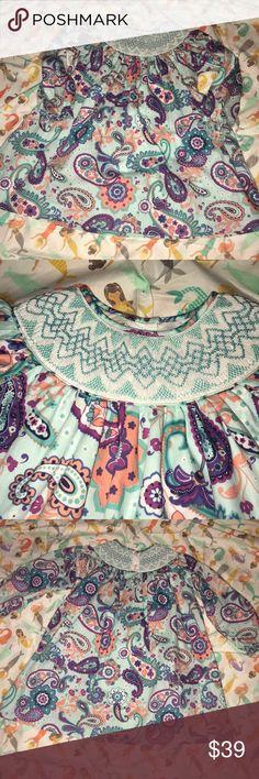 2T Long Sleeve Paisley Smocked Dress 2T Long Sleeve Multi Colored Paisley Smocked Dress.  Worn once to the Nutcracker Ballet.  EUC.  So sweet. Marmellata Kids Dresses